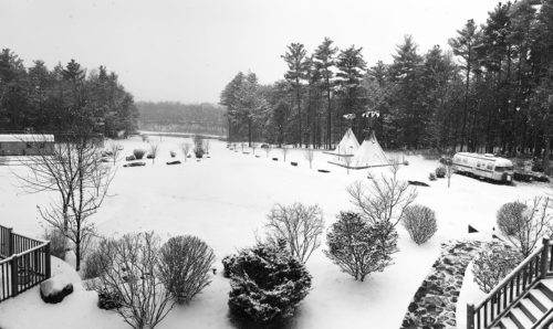 View from the balcony of the main house during winter