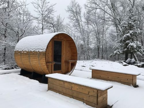 The sauna is available all year round