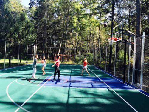 The half basketball court