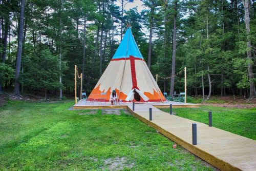 Our large tipi is perfect for gatherings and ceremonies - It sleeps four comfortably